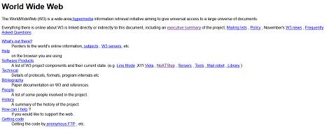 אתר האינטרנט הראשון, 1993