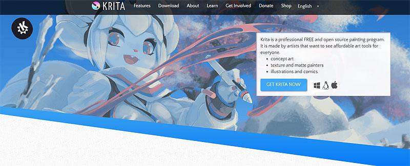 krita תוכנה חינמית לציור דיגיטלי